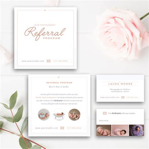 Free Photography Referral Card Templates by Photography Referral Card Photoshop Template Referral