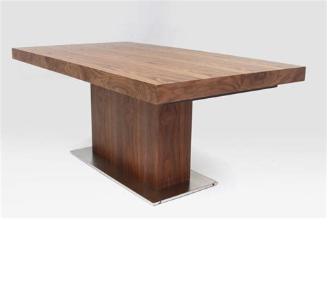 Dreamfurniture Com Zenith Modern Walnut Extendable Dining Table Modern