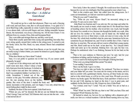 analysis jane eyre chapter 2 reading worksheet jane eyre chapter 1