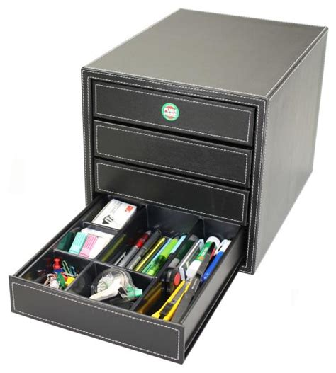 Leather Drawer Organizer by One Touch File Drawer Faux Leather One Touch 4 Drawer
