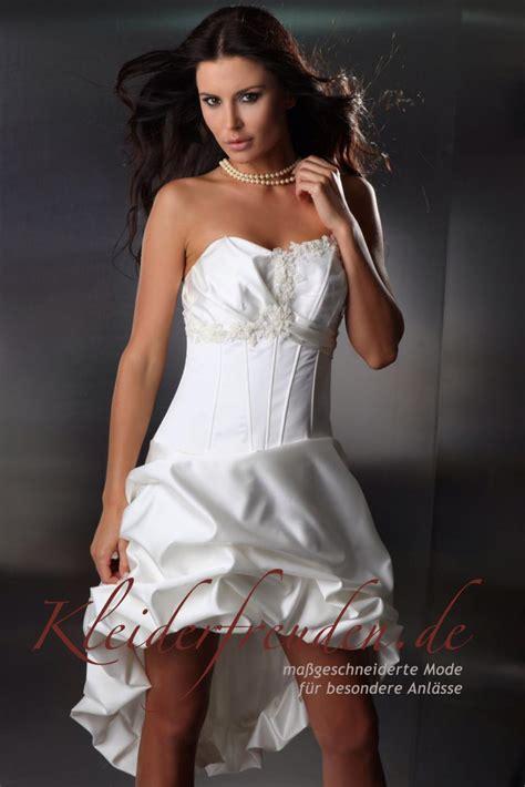 ösenvorhang kurz brautkleid vorne kurz hinten lang aus taft kleiderfreuden