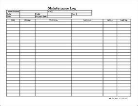 free easy copy detailed automotive maintenance log wide