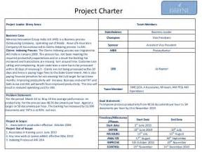 customer care charter template exle of six sigma project charter on productivity