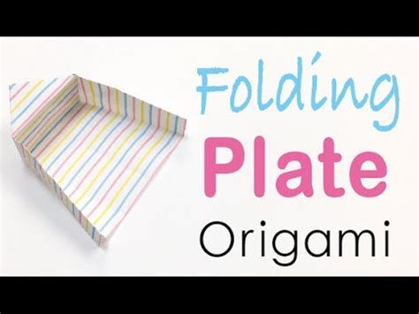 How To Fold A Paper Tray - paper folding plate tray origami origami kawaii 045