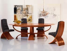 Elegant dining room tables and chair in simple interior decorating