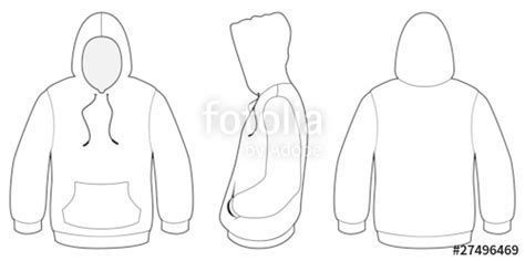 Jaket Sweater Roblox quot hooded sweater template vector illustration quot stock image and royalty free vector files on