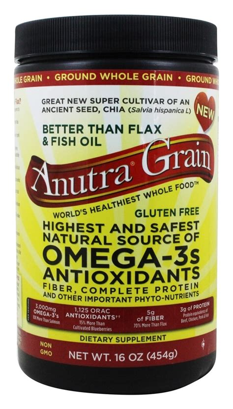 omega 3 in whole grains buy anutra ground whole grain source of omega 3s