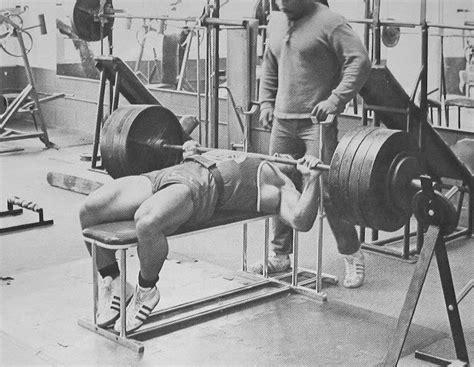 franco columbu bench press lifting pinterest