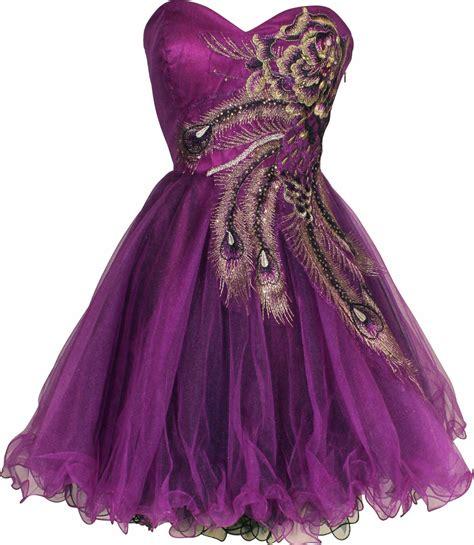 Dress Pusple peacock prom dresses metallic peacock embroidered