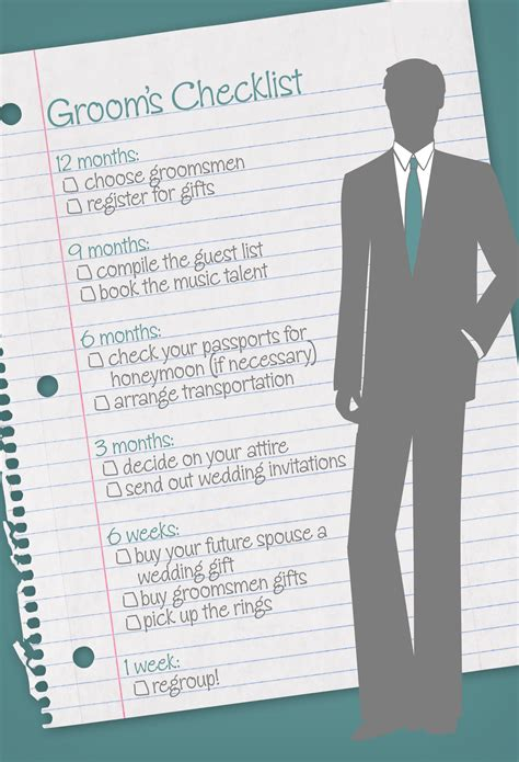 Wedding Checklist For And Groom by The Ultimate Groom S Checklist