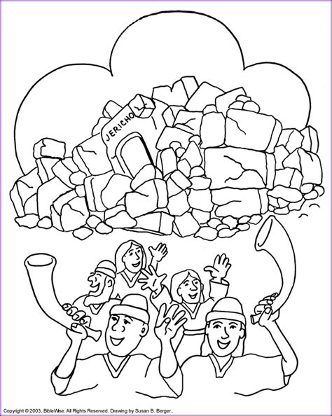 joshua the wall of jericho coloring page kids bible
