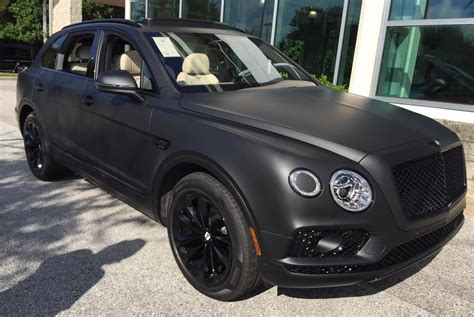 bentley suv matte bentley bentayga stealth edition is the first one with a