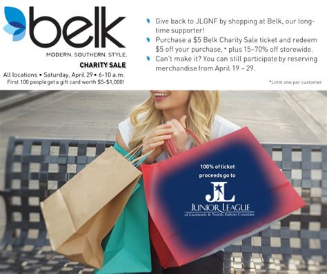 belk charity sale jlgnf
