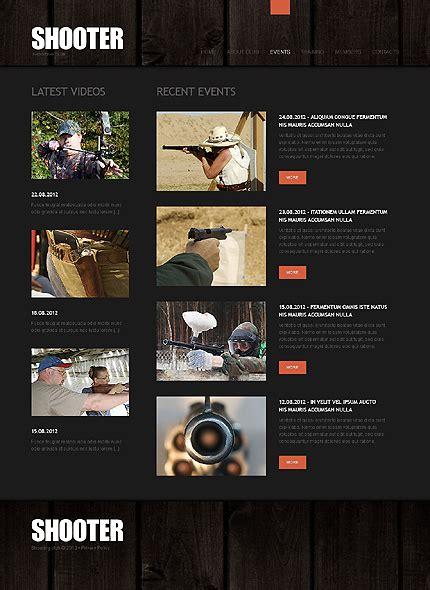Gun Shop Website Template 39293 By Wt Website Templates Gun Shop Website Template
