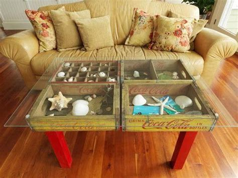 see through coffee table refurbishment ideas diy