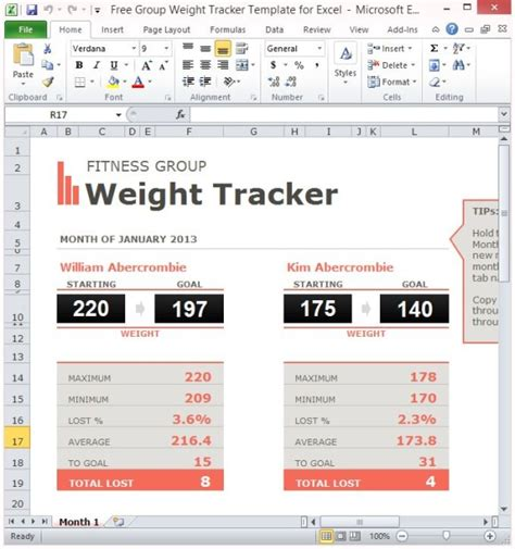 weight loss tracker template 5 weight loss challenge spreadsheet templates excel xlts