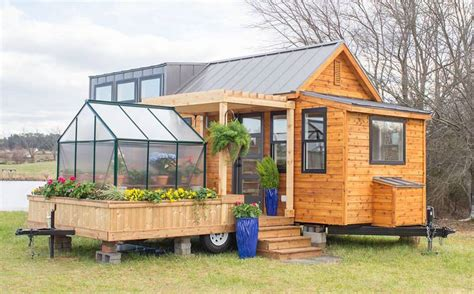 mobile tiny homes two part tiny house comes with its own mobile porch