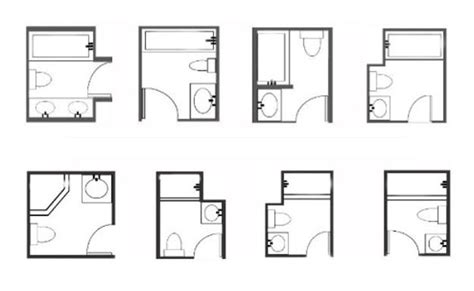 bathroom remodel floor plans 33 space saving layouts for small bathroom remodeling