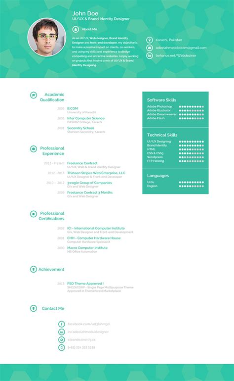 Creative Resume Sles Pdf Creative Resume On Behance
