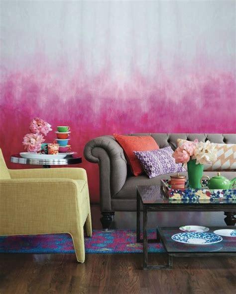 Tapeten Streichen Ideen by Wohnzimmer Wandgestaltung Mit Farbe Ombre Wand Streichen