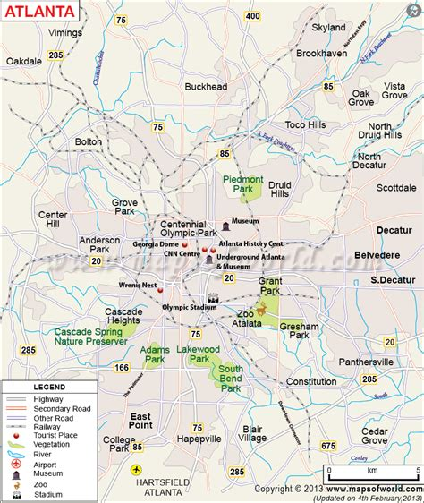 atlanta map usa maps update 960533 tourist map about tourism