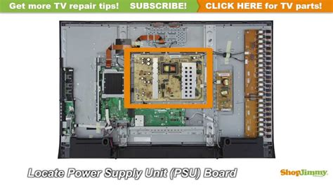 Power Supply Led Sharp Aquos sharp lc 46 lc 52 rdenca235wjqz power supply unit psu boards replacement guide sharp lcd tv
