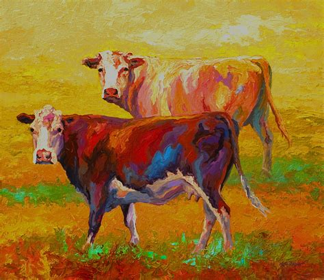 Longhorn Home Decor by Two Cows Painting By Marion Rose