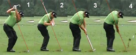 golf swing too steep steep swing actions newton golf institute