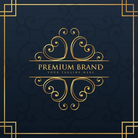 Premium Ornamental Logo Vector Free Download Premium Logo Templates