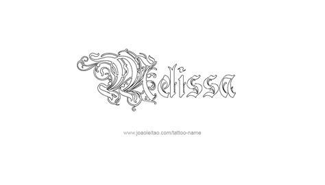 melissa tattoo name designs