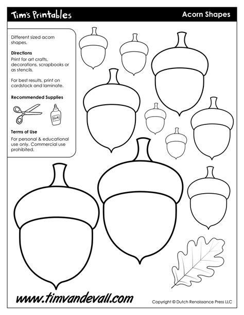 acorn template acorn templates printable acorn shapes blank shape pdfs