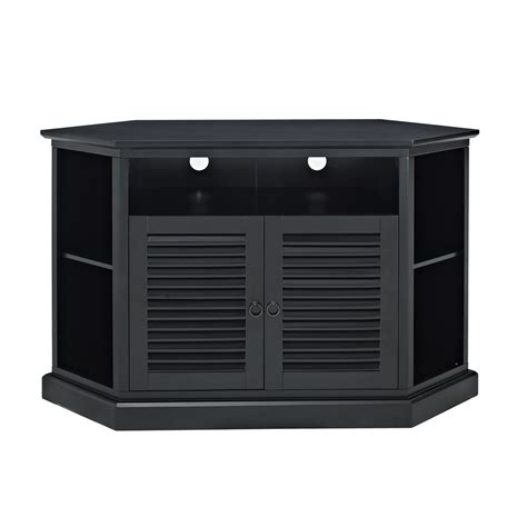 black corner tv stand walker edison 52 in black wood corner tv stand home