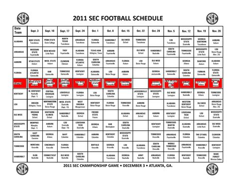 Section 1 Football Schedule by Printable Sec Helmet Football Schedule 2016 Motorcycle Review And Galleries