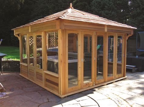 Sheds For Tubs by Tub Buildings Swim Spas The Hideout House Company
