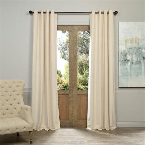 ivory velvet curtains solaris mist faux suede grommet curtain 1 panel 1627819