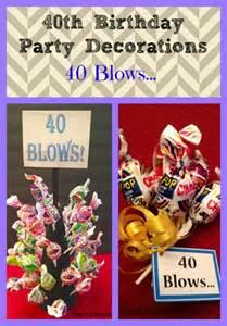 40th birthday party decoration idea