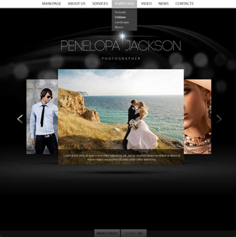 personal html5 photo video gallery template