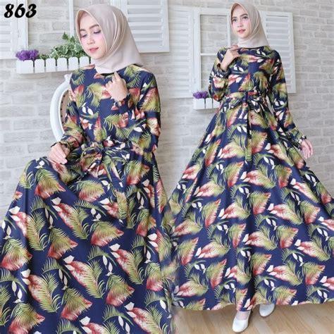 4 Warna Gamis Maxmara Erica Gamis Syari Maxmara Gamis Set Khimar Syari gamis maxi maxmara motif bulu c863 baju muslim remaja