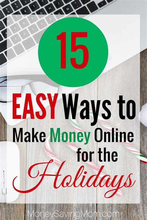 Easy Way Make Money Online - 15 ways to earn money online for the holidays money