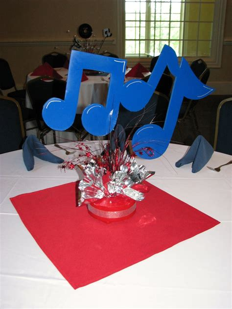 rock n roll centerpieces by the party girl events glam