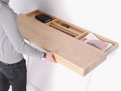 hidden storage very simple wall mounted desk with hidden storage shifty