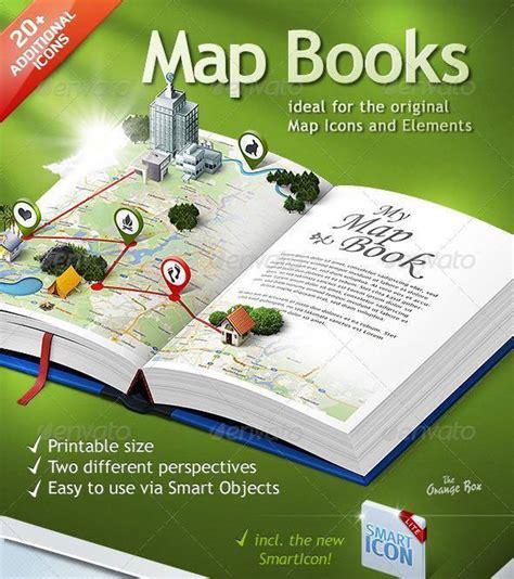 map photoshop book template psddude