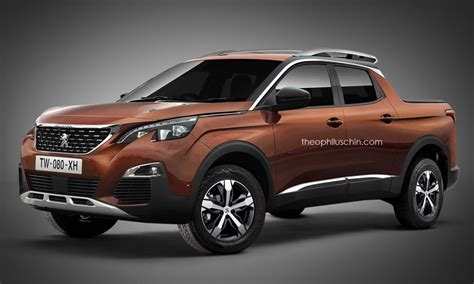 peugeot 4x4 range design un graphiste imagine un pick up peugeot