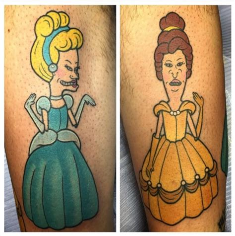 beavis and butthead tattoo 90s nostalgia 19 tattoos by alex strangler tattoodo