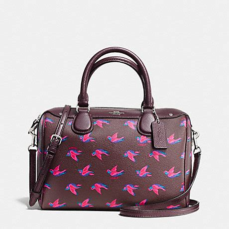 Coach Mini Bennet Patchwork 1 coach f57274 mini satchel in happy bird print coated canvas silver burgundy multi