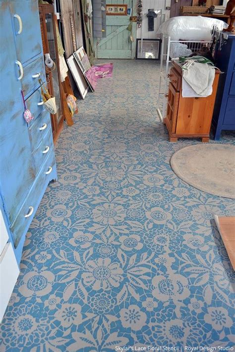 pretty painted floors with flower designs 26 best images about painted porch floors on