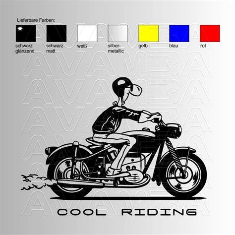 Coole Motorrad Aufkleber motorrad cool riding aufkleber sticker avamba oldtimer