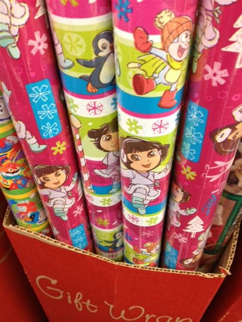 free spongebob and dora wrapping paper at dollar tree