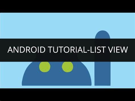 android tutorial list android tutorial list view edureka youtube