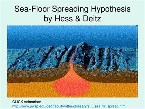 Sea Floor Spreading Hess by Ppt Plate Tectonics Powerpoint Presentation Id 3100426